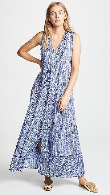 Poupette St Barth Clara Sleeveless Long Dress