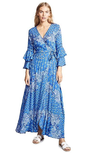Poupette St Barth Elise Layered Long Dress