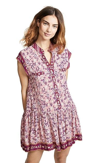 Poupette St Barth Amora Drop Waist Mini Dress
