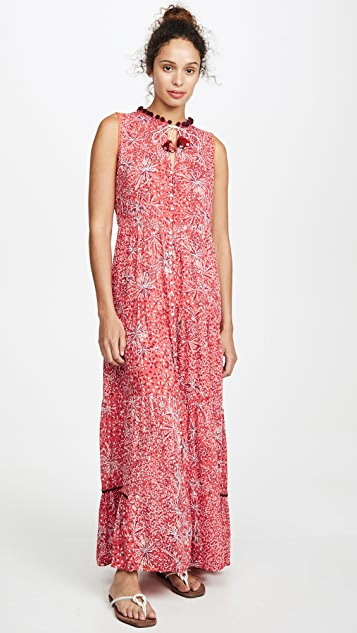 Poupette St Barth Длинное платье Clara