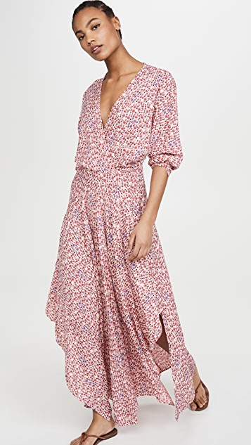 Poupette St Barth Ilona Flounce Long Dress
