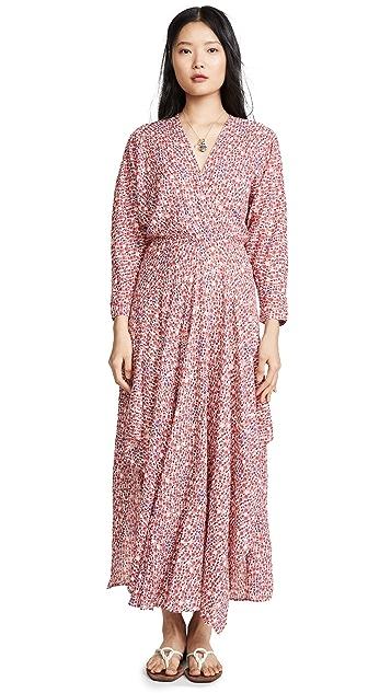 Poupette St Barth Ilona Flounce Long Dress