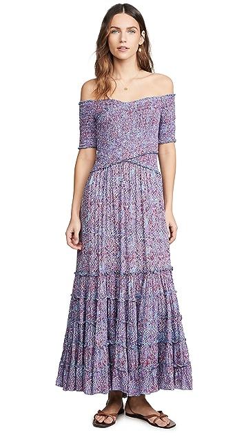 Poupette St Barth Платье со сборками Soledad