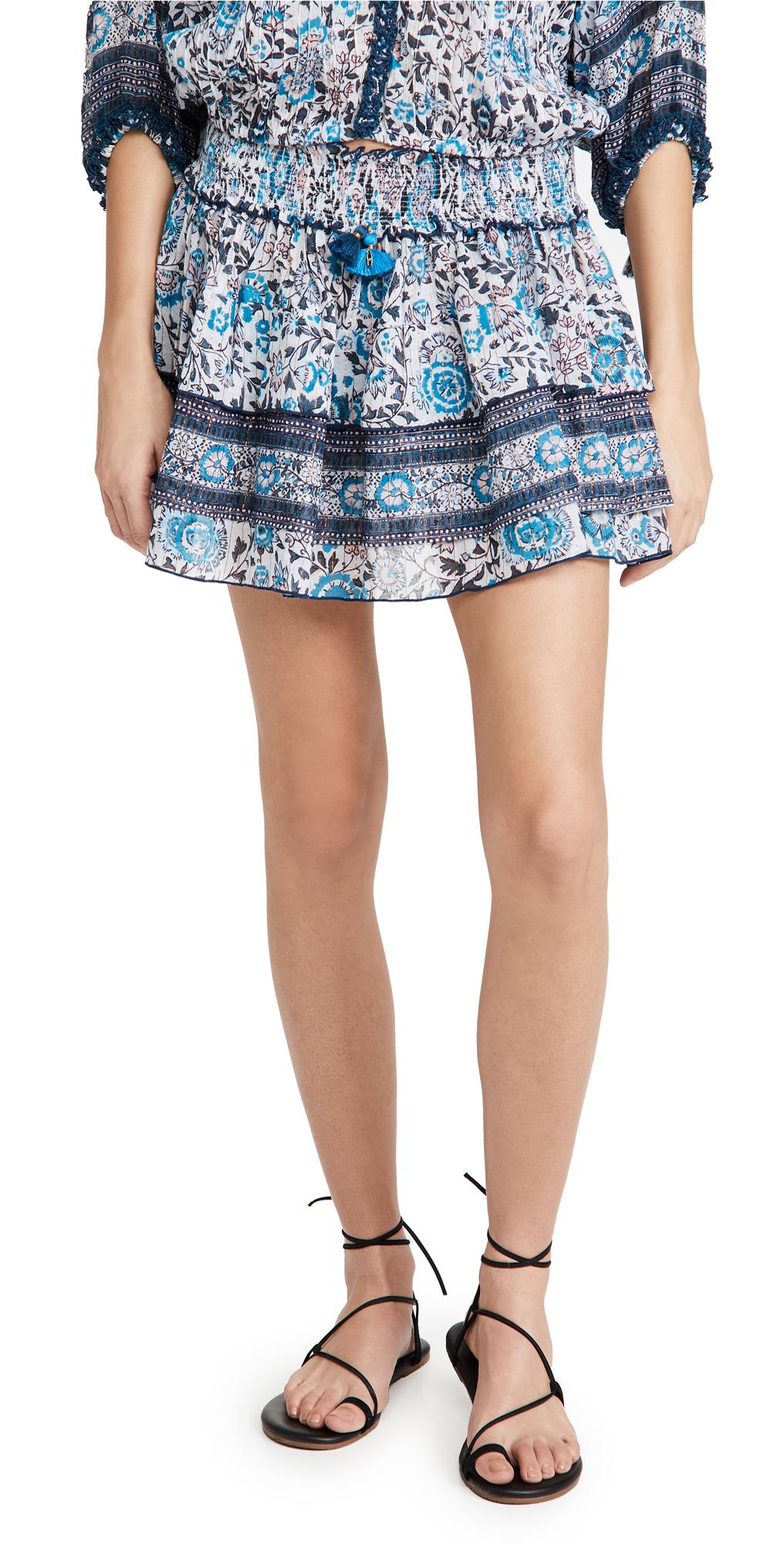 Poupette St Barth Ariel Ruffled Miniskirt