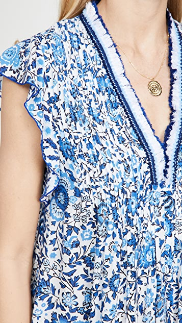 Poupette St Barth Mini Sasha Lace Trimmed Dress