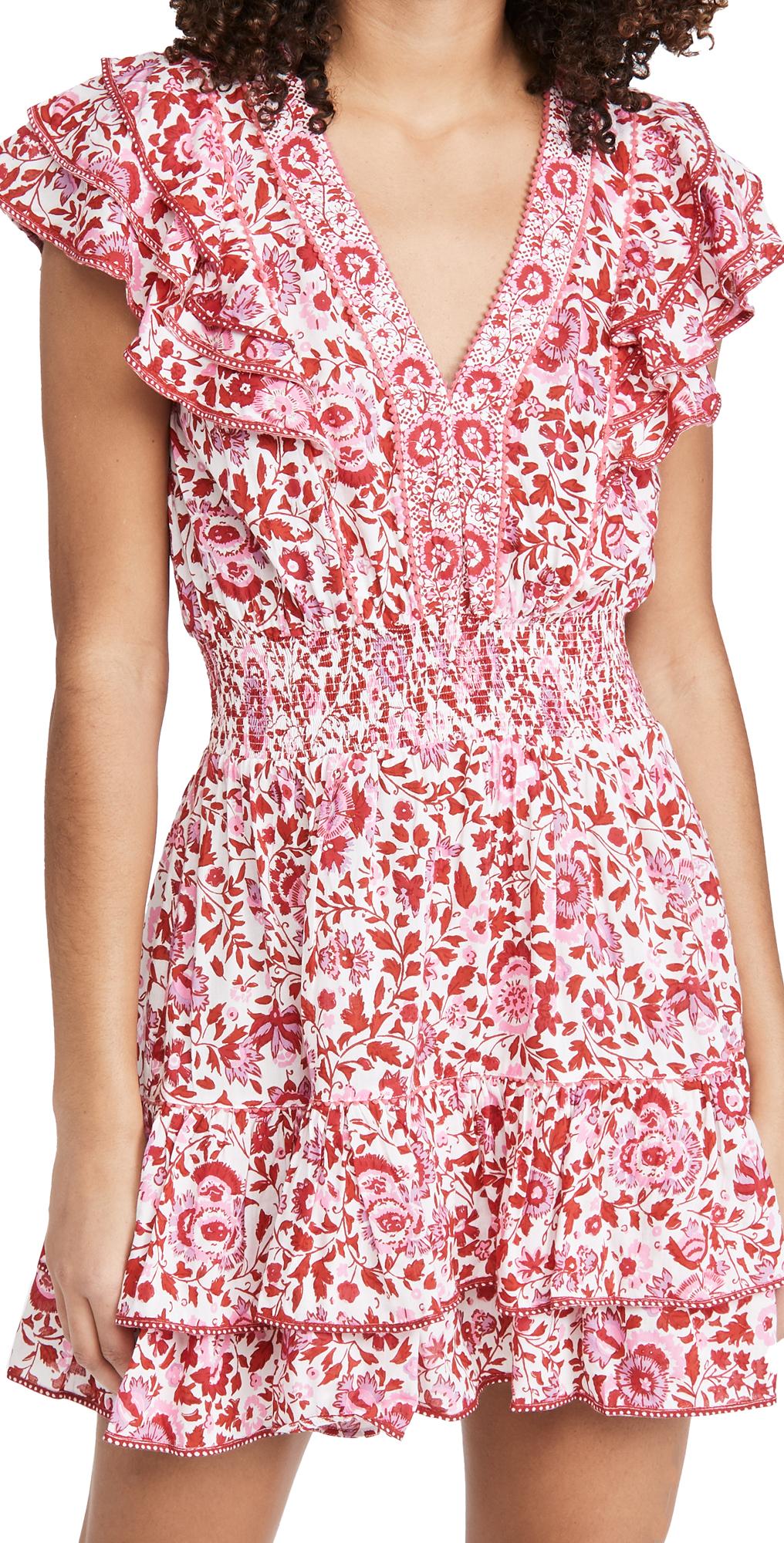 Poupette St Barth Mini Camila Ruffled Dress