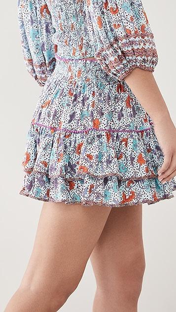 Poupette St Barth Camilla Ruffled Mini Skirt