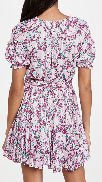 Poupette St Barth Ivy Lace Trimmed Mini Dress