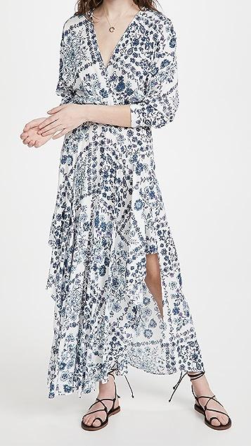 Poupette St Barth Long Ilona Flounce Dress