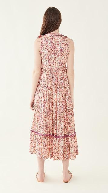 Poupette St Barth Ivy Paneled Maxi Dress