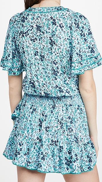 Poupette St Barth Mini Mabelle Ruffled Dress
