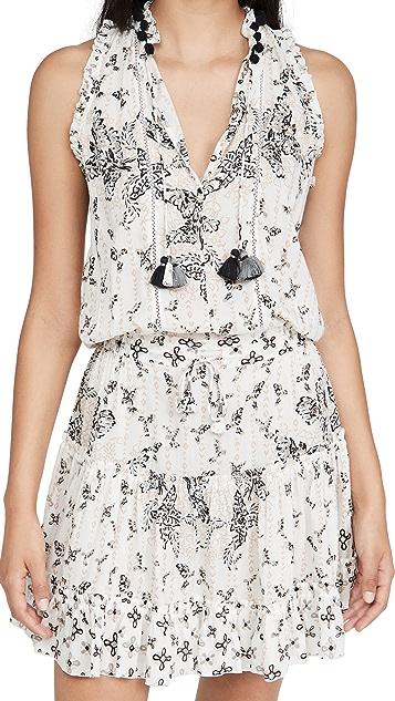Poupette St Barth Mini Dress Clara 褶边连衣裙