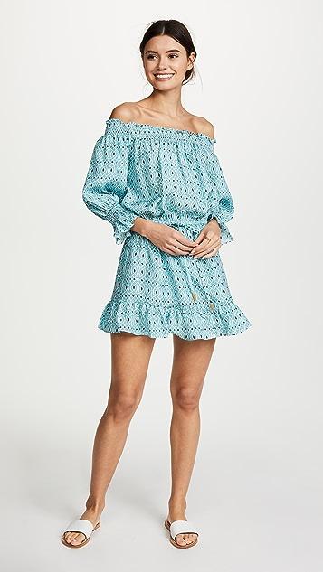 PALOMA BLUE Calypso Off Shoulder Dress