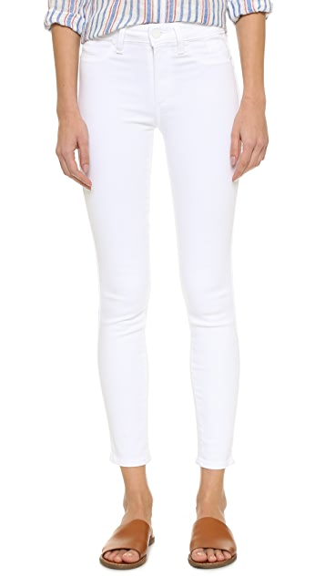 PAIGE Hoxton Ankle Skinny Jeans - Ultra White