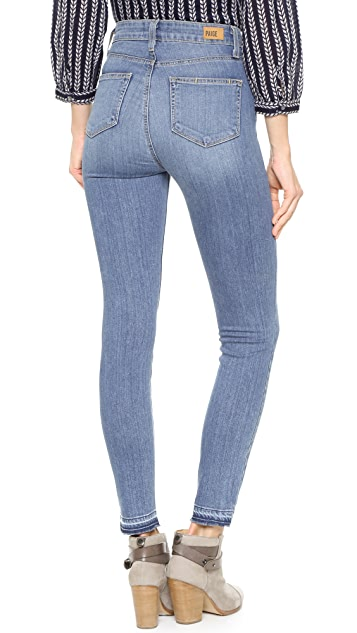 PAIGE Margot Ankle Jeans with Undone Hem