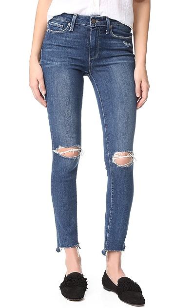 PAIGE Hoxton Ankle Peg Jeans with Uneven Hem
