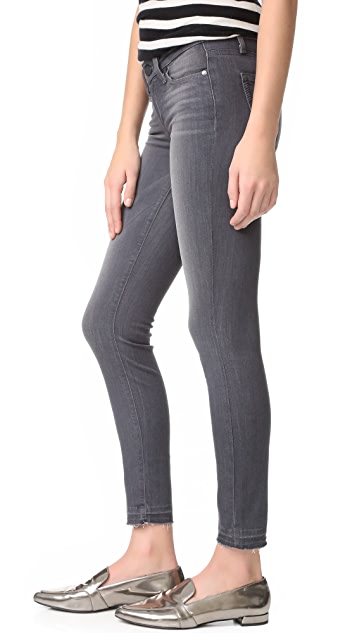 PAIGE Verdugo Ankle Jeans with Undone Hem