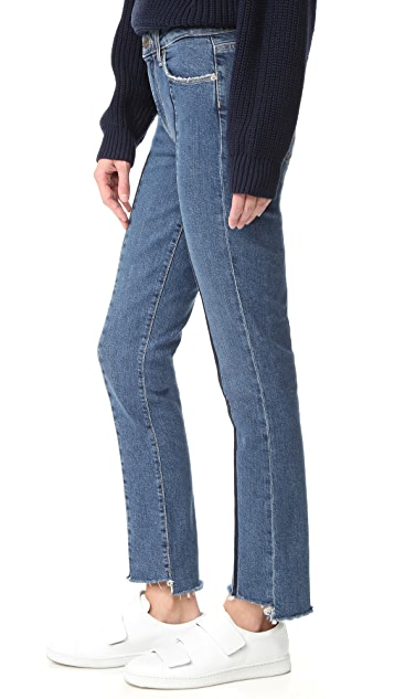 PAIGE Vintage Julia Jeans with Uneven Hem