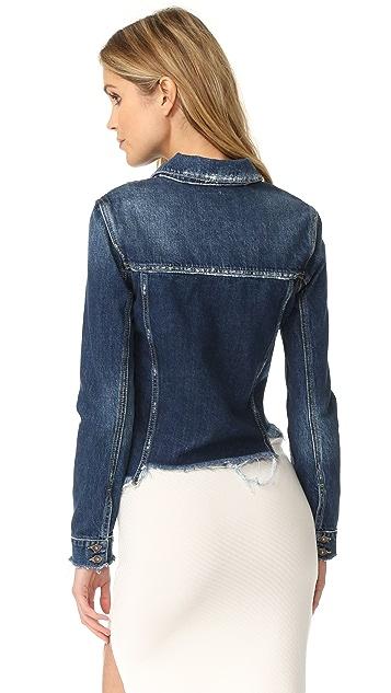 PAIGE Vintage Uneven Hem Rowan Jacket