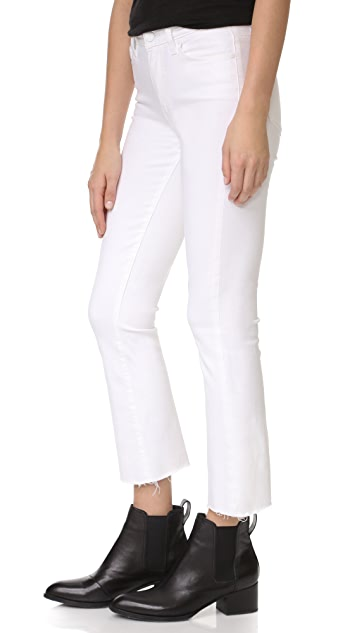 PAIGE Colette Crop Jeans with Raw Hem
