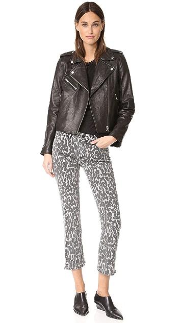 PAIGE Rosie HW x PAIGE Poppy Leopard Slim Crop Flares