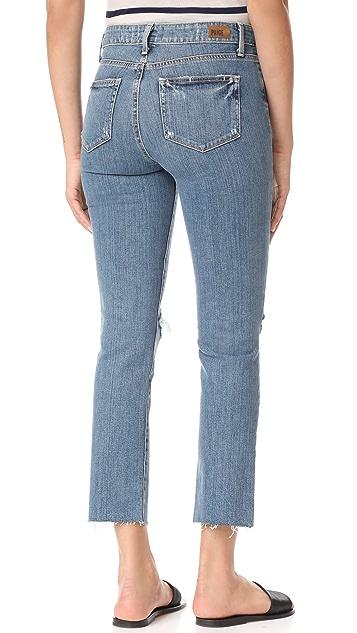 PAIGE Jacqueline Straight Raw Hem Jeans