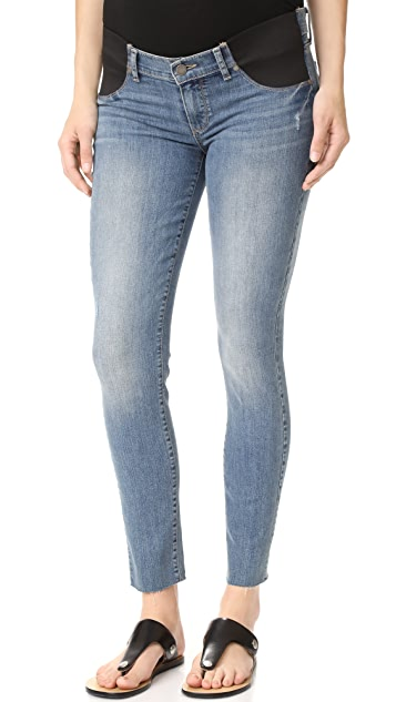 PAIGE Maternity Verdugo Ankle Jeans with Raw Hem