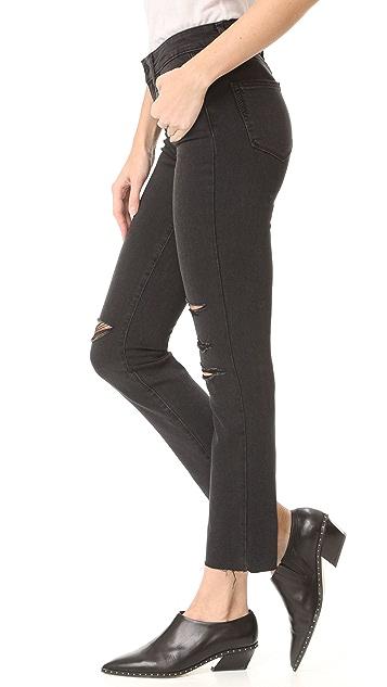 PAIGE Jacqueline Straight Leg Jeans with Raw Hem