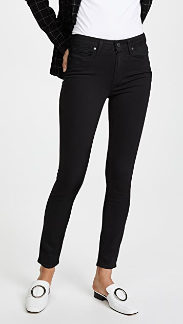 PAIGE Transcend Hoxton Ankle Jeans - Black Shadow
