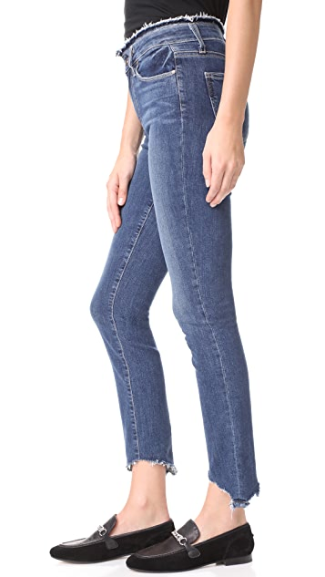 PAIGE Frayed Hoxton Ankle Peg Jeans