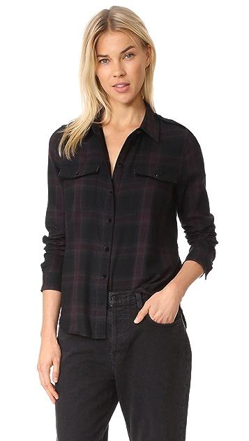 PAIGE Adilene Shirt Velvet Piping