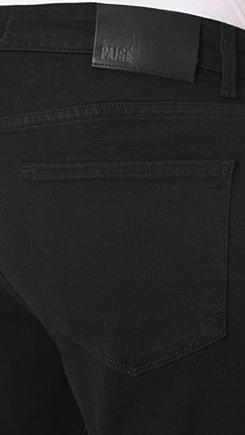 PAIGE Normandie Black Shadow Jeans