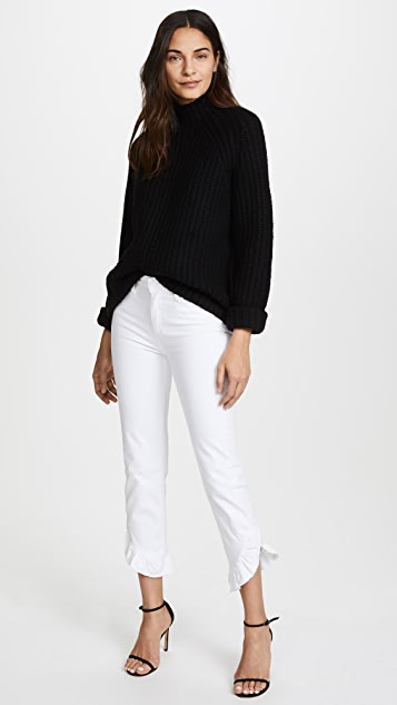 PAIGE Transcend Hoxton Straight Ruffle Jeans