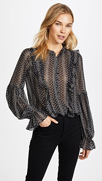 PAIGE Haiku Blouse - Black Multi