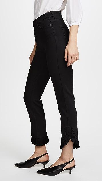 PAIGE Jacqueline Mini Ruffle Jeans