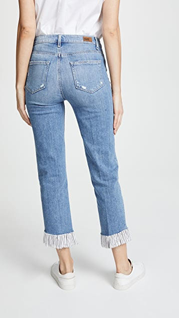 PAIGE Sarah High Rise Jeans with Ruffled Hem