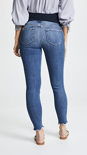PAIGE Maternity Verdugo Frayed Ankle Jeans