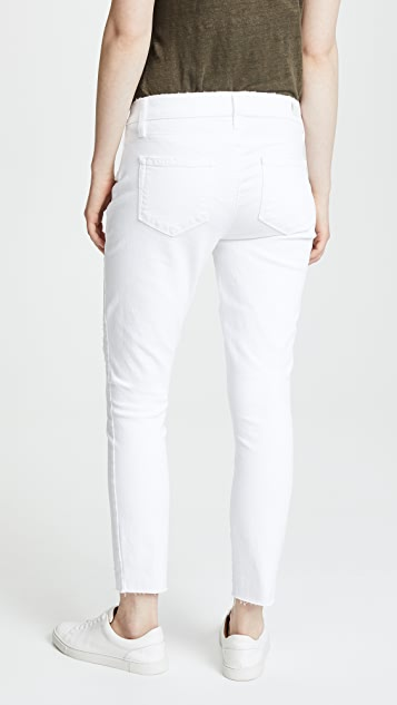 PAIGE Maternity Verdugo Crop Jeans with Raw Hem