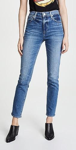 PAIGE - High Rise Sarah Slim Jeans