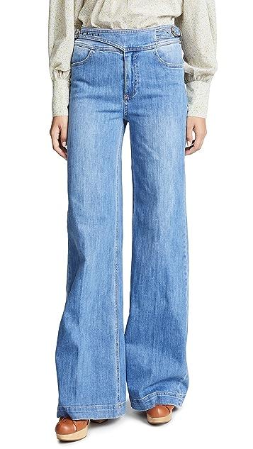 PAIGE Sutton Wide Leg Jeans