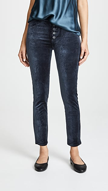 PAIGE Velvet Hoxton Ankle Peg Exposed Button Fly Jeans