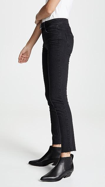 PAIGE Hoxton Ankle Peg Jeans with Belt