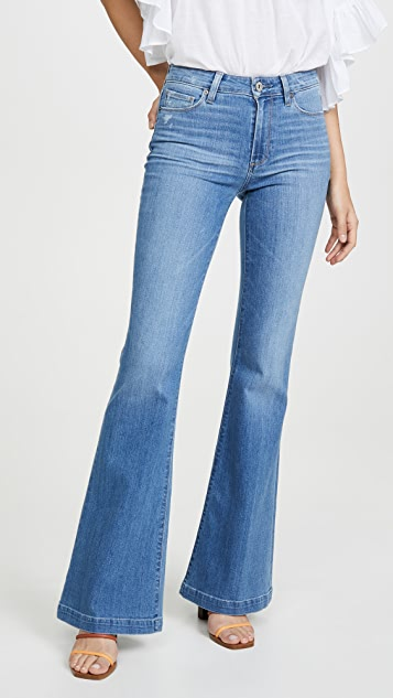 PAIGE Genevieve Flare Jeans with Wide Hem