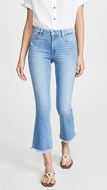 PAIGE Colette Crop Flare Jeans with Fray Hem