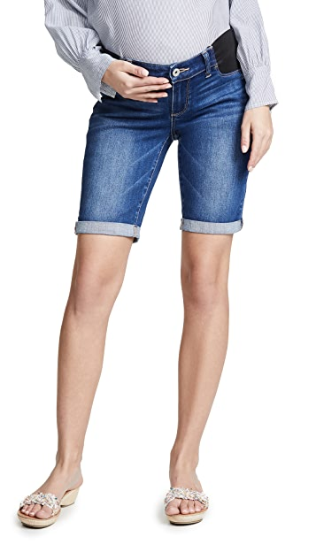 PAIGE Jax Maternity Bermuda Shorts
