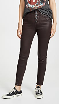 Hoxton Slim Jeans With Exposed Buttons