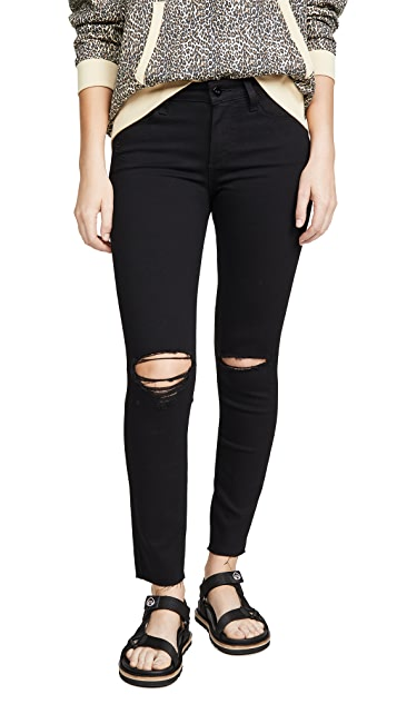PAIGE Verdugo Ankle Skinny Jeans with Raw Hems
