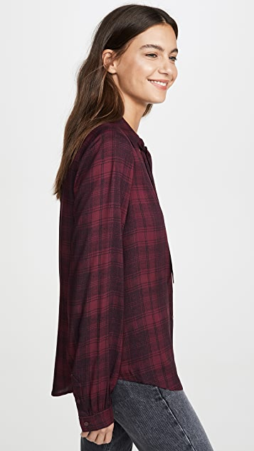 PAIGE Taryn Plaid Button Down