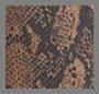 коричневый под змею с покрытием
