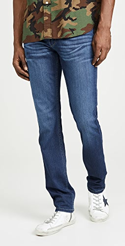 PAIGE - Lennox Slim Jeans in Leo Wash